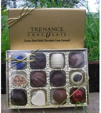 Chocolate Made in Cornwall 12 Assorted Boxed Chocolates