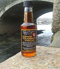 Cornish Strawberry Vinegar, 150ml bottle
