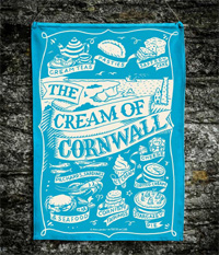 Cream of Cornwall Tea Towel 100% Cotton