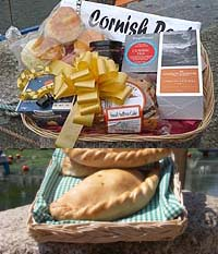 Cornish Luxury Pasty and Cream Tea Treat Basket