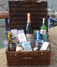 Purely Cornish Fowey Feast Hamper (Important add a message before you add to cart.)