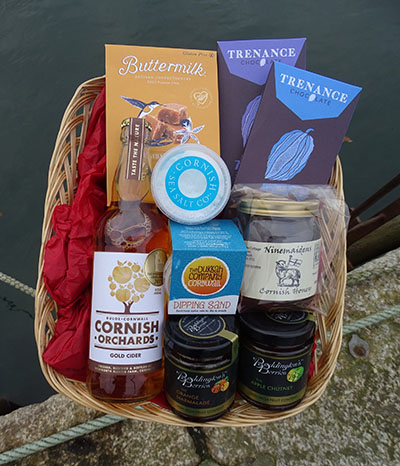 Katys gluten free cornish hamper basket purely cornish description negle Choice Image